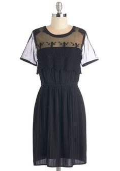 Rush of Excitement Dress. You were already excited to celebrate your promotion, but wearing this black dress for the occasion only heightens your delight! #black #modcloth