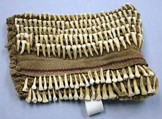 Bracelet or Armband | Late 19th–early 20th century | Metropolitan Museum of Art believes this could be from the Philippines | Teeth, fiber