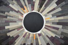 wood wall art GREY MATTER an Eclipse 36X36 por StainsAndGrains