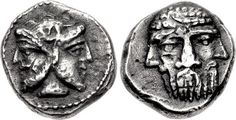 Obols: An Excessively Rare Greek Silver Diobol Attributed to an Uncertain Polis in Cilicia, with a Rare Depiction of a Three-Faced Head by Ancient Art Bullion Coins, Silver Bullion, Pirate Coins, Coin Art, Minoan, Coin Collecting, Ancient Art, Silver Coins, Archaeology