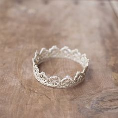 Made from lace!...crown; dip in fabric stiffener, let dry, & glue around the edges of a small mirror for a vanity tray  kj