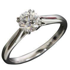Harry Winston 950 Platinum diamond solitaire ring US Size With Box/Cert Harry Winston, Diamond Solitaire Rings, Fine Jewelry, Jewels, Engagement Rings, Box, Wedding Ideas, Women, Fashion