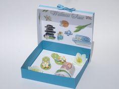 Gutschein Geldgeschenk Wellness Box Papier Flipflop