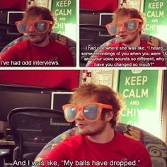I like ed's description of puberty...much more 'visual' (ew) and short than the week long classes at school. Tells u all u have to know XD