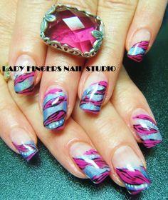 #nail #nails #nailart #nailporn #nailideas #trendynails #naildesign #art #springnails #spring #colours #pink #blue #manicure #gelpolish #gelmanicure #nailpolish #gelnails #bling #ladyfingersnailstudionails