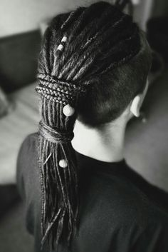 dreads by me ☀ Dreadlock Hairstyles For Men, Cool Hairstyles, Hair Art, My Hair, Hair And Beard Styles, Long Hair Styles, Grown Out Pixie, Dreadlocks, Hair Photo