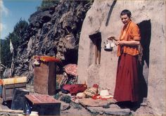 Tenzin Palmo lived by herself in a cave in the Himalayas for 12 years, meditating. She later started a nunnery in Tibet.