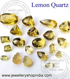 Real Lemon Quartz - Genuine Natural Semi Precious Gemstone