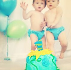 First Birthday for Twins