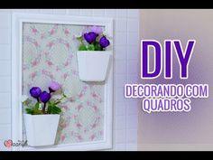 DIY: Quadro de Flores para o Banheiro | Como Decorar o Banheiro - com Alleane Calazans - YouTube