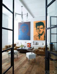 They're known for their luxe interiors for clients, but in their own loft, designers Kevin Roberts and Timothy Haynes prefer to keep it simple.