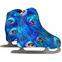 Copripattini per pattinaggio artistico a rotelle o su ghiaccio, fantasia pavone DISPONIBILE IN TAGLIA M dal 32 al 35 Figure Skating Dresses, Skates, Ice Skating, Outdoor Decor, Fantasy, Ice Dance Dresses, Skating