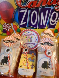 """Carnival Themed Party favor """"prizes"""""""