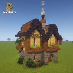 Tap to watch the tutorial Minecraft Building Guide, Minecraft House Plans, Minecraft Farm, Minecraft Castle, Minecraft Funny, Minecraft Survival, Minecraft Construction, Amazing Minecraft, Minecraft Blueprints