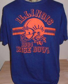 f741995b vintage 1984 Illinois Rose Bowl football t shirt XL by vintagerhino247 on  Etsy Rose Bowl