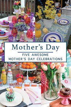 Celebrate mom with a party she will love with inspiration from Everyday Party Magazine #MothersDay #Brunch #PartyRoundUp