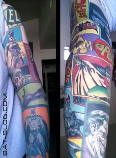 BAT - BLOG : BATMAN TOYS and COLLECTIBLES: Todd's Super-Excellent BATMAN COMIC BOOK INSPIRED TATTOO Sleeve Art