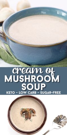 Keto Brown Butter Mushroom Soup Take your cream of mushroom to the next level with the deliciousness of browned butter! This comforting keto soup recipe is easy to make and so full of umami flavor. And less than TOTAL carbs per serving! Butter Mushroom, Creamy Mushroom Soup, Mushroom Soup Recipes, Keto Mushrooms, Creamed Mushrooms, Stuffed Mushrooms, Ketogenic Recipes, Low Carb Recipes, Tuna Recipes