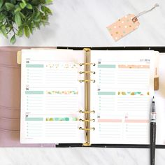 Large printable planner stickers to fit large Kikki K planner