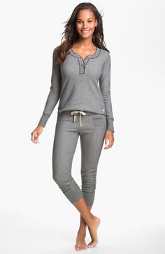 Kensie 'Quite the Character' Thermal Pajamas | Nordstrom