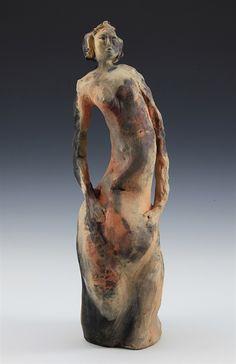 Fume Fired Sculptures - McCarthy Clay - Feminine Sculptures