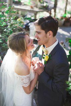 Christina and Blaze's 75 guest California Flower Farm Wedding. See more photos by Hind Hart Studios on www.intimateweddings.com/blog #realweddings