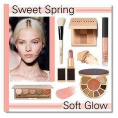 """""""Sweet Spring - Soft Glow"""" by lgb321 ❤ liked on Polyvore featuring beauty, Bobbi Brown Cosmetics, Tom Ford, Jane Iredale, tarte, Urban Decay, NARS Cosmetics, Burberry, Spring and Beauty"""