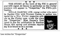 Harper Lee's article for FBI magazine on infamous killings found - http://www.theguardian.com/books/2016/apr/25/harper-lees-article-for-fbi-magazine-on-infamous-killings-found?CMP=share_btn_tw