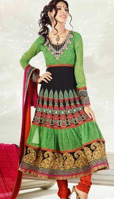 #Green Indian #Wedding Dress