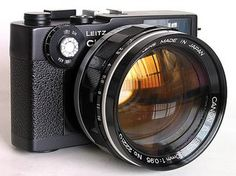 A Vintage Leitz Minolta CL - with a 50mm/f0.95 black hole attached to it.  Probably would perform better on a CLE, M body, or a vintage Canon from whence it came, but a beauty of a lens regardless.