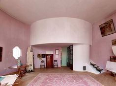 The Melnikov House by architect Konstantin Melnikov is a classic residence that represents the forefront of the Russian avant-garde. Interior Architecture, Interior And Exterior, Decor Interior Design, Interior Decorating, Vintage Interiors, Colorful Interiors, Furniture Styles, Living Spaces, Living Room