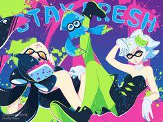 Stay Fresh Splatoon Poster