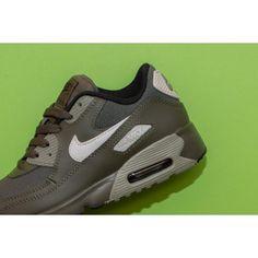 new arrival 1cfe6 d87f8 Chaussures Nike Air Max 90 Maille PS Kargo Kaki Os Clair Stuc Foncé Noir  Moins Cher