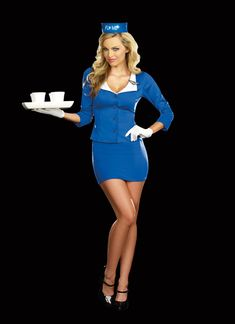 """Dreamgirl """"Fly Me"""" Pan Am Inspired Retro Flight Attendant Costume $59.00"""