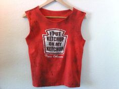 Ketchup Lover / New Orleans / Ketchup / Graphic TShirt / Muscle Top / Muscle Tee / 60s / 70s / 80s / 90s / Street Style