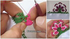 ÖRGÜ DALGALI KILÇIK MODEL YAPILIŞI | Nazarca.com Needle Lace, Crochet Earrings, Drop Earrings, Flowers, Jewelry, Crochet Edgings, Dish Towels, Hardanger, Puppets