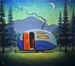 "Daily Paintworks - ""Campsite"" - Original Fine Art for Sale - © Robert LaDuke Illustrations, Illustration Art, Art Graphique, Retro Art, Art Deco Design, Pictures To Paint, Fine Art Gallery, Rock Art, Painting Inspiration"