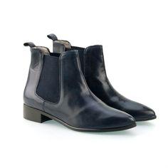 MUNOZ LEER - :: Korte laarzen - Vrouw - Ab Donkers