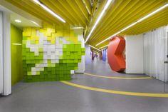 Innenraum Office grün