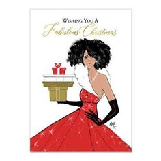 "Look no further for your African American Christmas needs! Discover our ""Fabulous Christmas"" Card, part of our Nicholle Kobi gift line, and more black Christmas Cards offered exclusively at African American Expressions. Christmas Card Wishes, Boxed Christmas Cards, Christmas Gift Box, Xmas Cards, Christmas Art, Christmas Greetings, Christmas And New Year, Greeting Cards, Birthday Greetings"