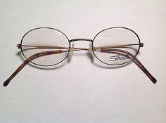 Round Designer Silhouette eyeglass frames Tortoise gold Lightweight eyeglasses