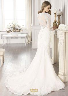 SPOSABELLA Dheli, Hochzeitskleid aus Spitze im Meerjungfrauen Stil
