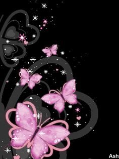 hearts and butterflies gorgeous glitter graphics - Bing Images