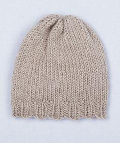 Free Loom Pattern: Loom Knit Simple Hat