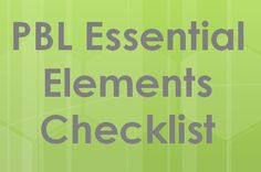 Checklist for design of a project-based learning assignment