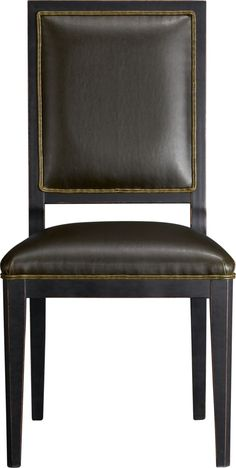 Sonata Leather Side Chair  | Crate and Barrel Current dining chairs
