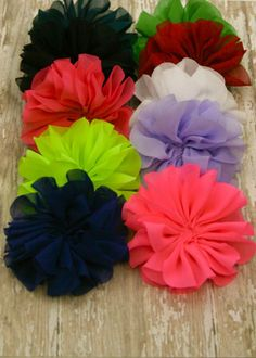 Folded Petal Fabric Flower | Vintage Chiffon Flower                                                                                                                                                     More