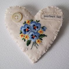 Perfect pansy day ~ embroidery