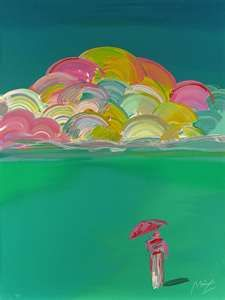 Sage with clouds, my favorite painting by Peter Max and reminder of Las Vegas~