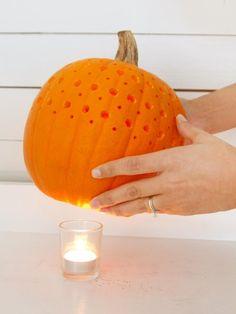 Halloween Pierced Pumpkin